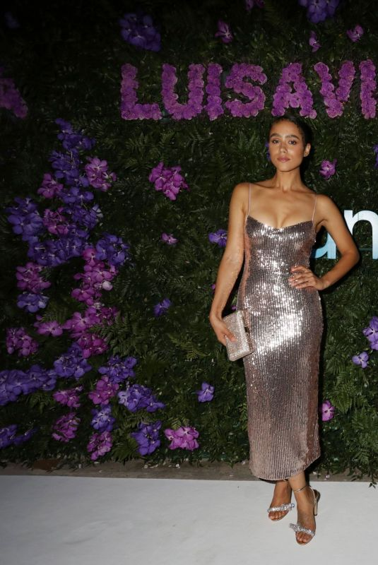 Nathalie Emmanuel Attends the photocall at the LuisaViaRoma for Unicef event at La Certosa di San Giacomo