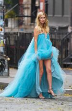 Nicky Hilton Posing on the streets during a shoot in New York