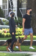 Nicole Richie Walks her dog with friends in Beverly Hills