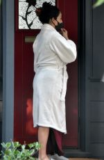 Nikki Bella Gets tested for COVID-19 outside her house in Studio City