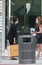 Nina Dobrev At a Louis Vuitton store in Beverly Hills