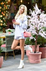 Olivia Attwood Puts on a leggy display as she heads to another days filming for her new show Olivia Meets Her Match in Manchester