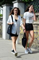 Olivia Cooke Out with a friend in London