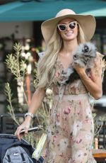 Paris Hilton Arriving at Malibu Country Mart with her fiance in Malibu