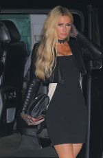 Paris Hilton Shows off her chic toned figure as she is spotted arriving to dinner with her boyfriend Carter Reum in Malibu