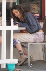 Paris Jackson Spotted having breakfast in Beverly Hills