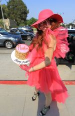 Phoebe Price Poses for pictures in pink ahead of her 47th birthday in Los Angeles