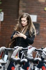 Rachel Shenton Out and about as new series All Creatures Great And Small in London