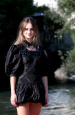 Raffey Cassidy Arriving at the Excelsior during the 77th Venice Film Festival in Venice, Italy