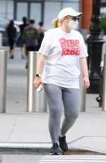 Rebel Wilson Out for a stroll in Tribeca