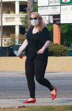 Rebel Wilson Returns to her car to find a parking citation while running errands in Los Angeles