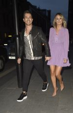 Rhian Sugden Seen leaving The Ivy Restaurant in Manchester