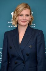 Romola Garai At Miss Marx Photocall at 77th Venice Film Festival