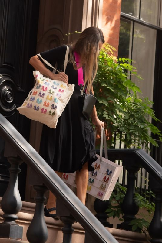 Sarah Jessica Parker Heads out to SJP Shoe Store to promote her line in Greenwich Village