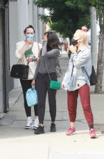 Sharna Burgess Spotted leaving the DWTS studio with Britt Stewart in Los Angeles