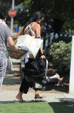 Shay Mitchell Arrives with her baby girl for a visit at a friend