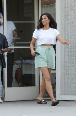 Shay Mitchell Seen on set for a new commercial for REVLON today in downtown Los Angeles