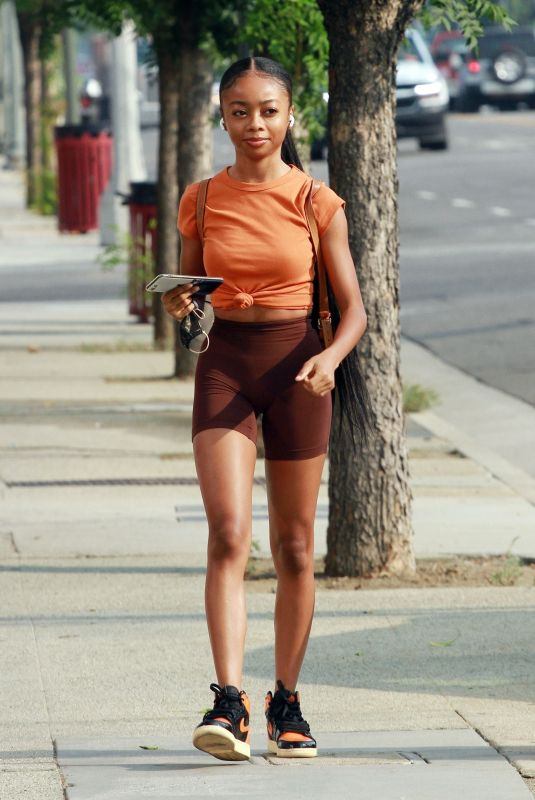 Skai Jackson Arriving for practice at the dance studio in Los Angeles