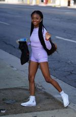 Skai Jackson Arriving for practice at the DWTS dance studio in Los Angeles