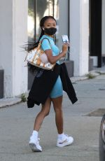 Skai Jackson Seen walking out of the DWTS studio in Los Angeles