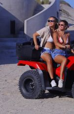Sofia Richie and friends have fun in the pool and ride ATV