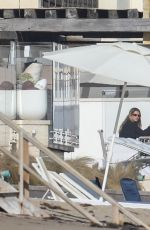 Sofia Richie Having lunch at the balcony with friends in Malibu