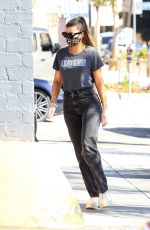 Sofia Richie Rocks a VOTER tee as she safely pumps gas wearing a mask and gloves in Brentwood