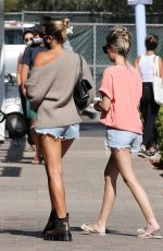 Sofia Richie Shows off her toned and tan legs shopping with friends at the Malibu Country Mart