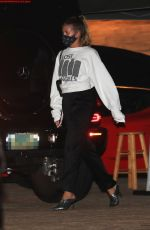 """Sofia Richie Slips on a """"Lost Angeles"""" sweatshirt after dinner with friends at Nobu in Malibu"""