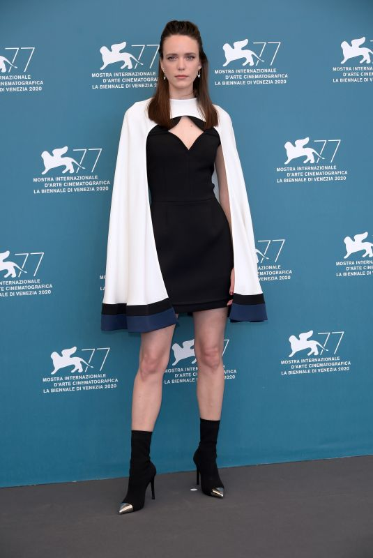 Stacy Martin Attending Amants (Lovers) photocall at 77th Venice film festival