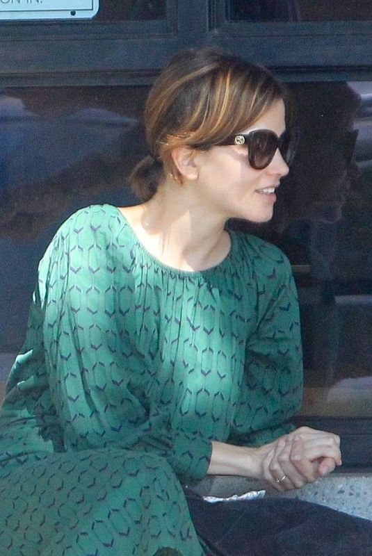 Sylvia Hoeks Chats with a friend while out in West Hollywood