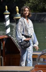 Taylor Hill Is all smiles as she arrives at the 77th Venice Film Festival in Venice