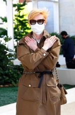 Tilda Swinton Arriving at Venice Airport during the 77th Venice Film Festival in Venice