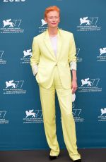 Tilda Swinton At The Human Voice Photocall at the 77th Venice Film Festival