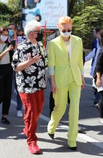 Tilda Swinton Walking to Palazzo del Cinema during Venice Film Festival in Venice