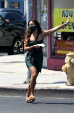 Vanessa Hudgens Visiting a frame store during a shopping trip with her new BFF GG Magree in West Hollywood