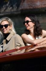 Vanessa Kirby & Katherine Waterston arriving to the Excelsior during the 77th Venice Film Festival