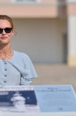 Vanessa Paradis Attending the inauguration of the Gabrielle Chanel square during the 46th Deauville American Film Festival