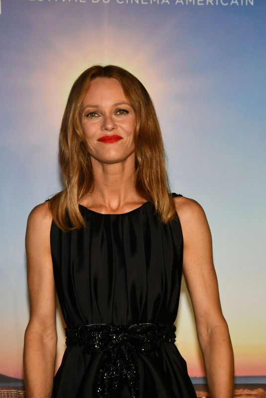 Vanessa Paradis In the Press Room of the 46th Deauville American Cinema Festival in France
