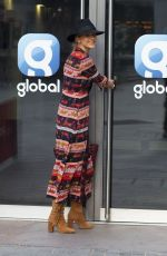 Vogue Williams Arrives at Heart Radio in London