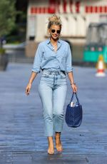 Vogue Williams In all denim out in London