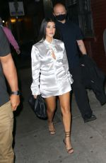 Addison Rae and Kourtney Kardashian look striking as they step out for dinner in NYC