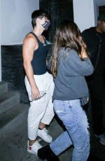 Addison Rae Arrives at a private residence in Los Angeles