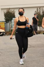 Addison Rae Heads home after another sweaty workout at AURA YOGA in West Hollywood