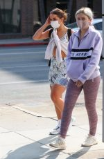 Addison Rae Heads to Dogpound gym with a girlfriend for a midday workout session in West Hollywood