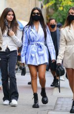 Addison Rae & Kourtney Kardashian Are seen out & about in downtown Manhattan
