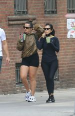 Addison Rae & Kourtney Kardashian Out & about in West Village