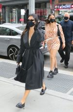 Addison Rae & Kourtney Kardashian Step out of their hotel in New York City