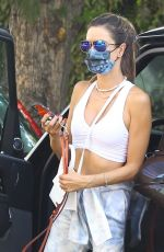 Alessandra Ambrosio Arrives at a friend