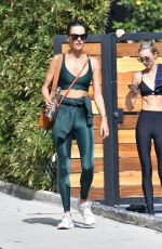 Alessandra Ambrosio Exiting her personal trainer